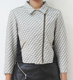 #polkadot embossed jacket